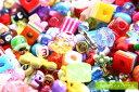 アクリルビーズ【おまかせ20g】ミニセット プラスチックビーズプチ福袋/サイズ・デザイン色々ミックス