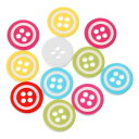 20個入【ボタン】ポップボタンプラスチックボタン(カラフル)ファンシーボタン/13mm(ランダムミックス計20個入)
