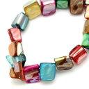 【シェルビーズ】140個ミックスカラー美しい貝殻の素敵なシェルビーズ ブレスレットやネックレスのパーツに…♪ハンドメイドクラフトアクセサリー素材/140個入(1...