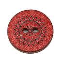 ●取寄品●ウッドクラフトボタン プリントボタン 100個 木製ボタン木のボタン/25mm