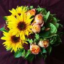 アレンジメントフラワー 送料無料 ゴッホのひまわり フラワーアレンジメント 誕生日プレゼント 母 女