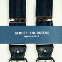 ALBERT THURSTON アルバートサーストン サスペンダーY型【英国製】 濃紺シャドーストライプ【送料無料】 2283-1122【楽ギフ_包装】