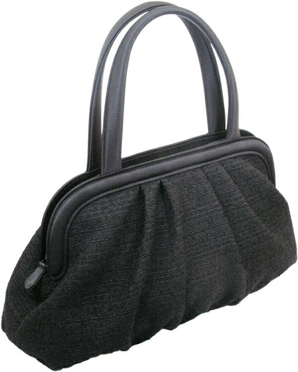 フォーマルバッグ 黒 ソフトバッグ 米沢織り生地使用 しっかりした作りの日本製 長く使えるフォーマルバッグ【送料無料】 B1934 ブラックフォーマルバッグ