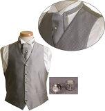 集[4]最佳正式衬衫,领带和袖扣正式阿斯科特和最佳(与珍珠针)是在风格决定! ![フォーマルベストセット FORMAL メンズ Men''s 男性用【フォーマルベストセット】シャツ&カフス&フォーマルベスト&アスコットタイ