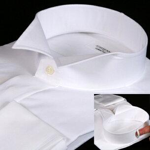 ウイングカラーシャツ カフスボタン スリムフィットモデル