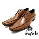 whoop de doo/フープディドゥ 304834 スワローモカクロスステッチシューズ ブラウン 本革ビジネスシューズ ビジネス/ドレス/紐靴/革靴/仕事用/メンズ