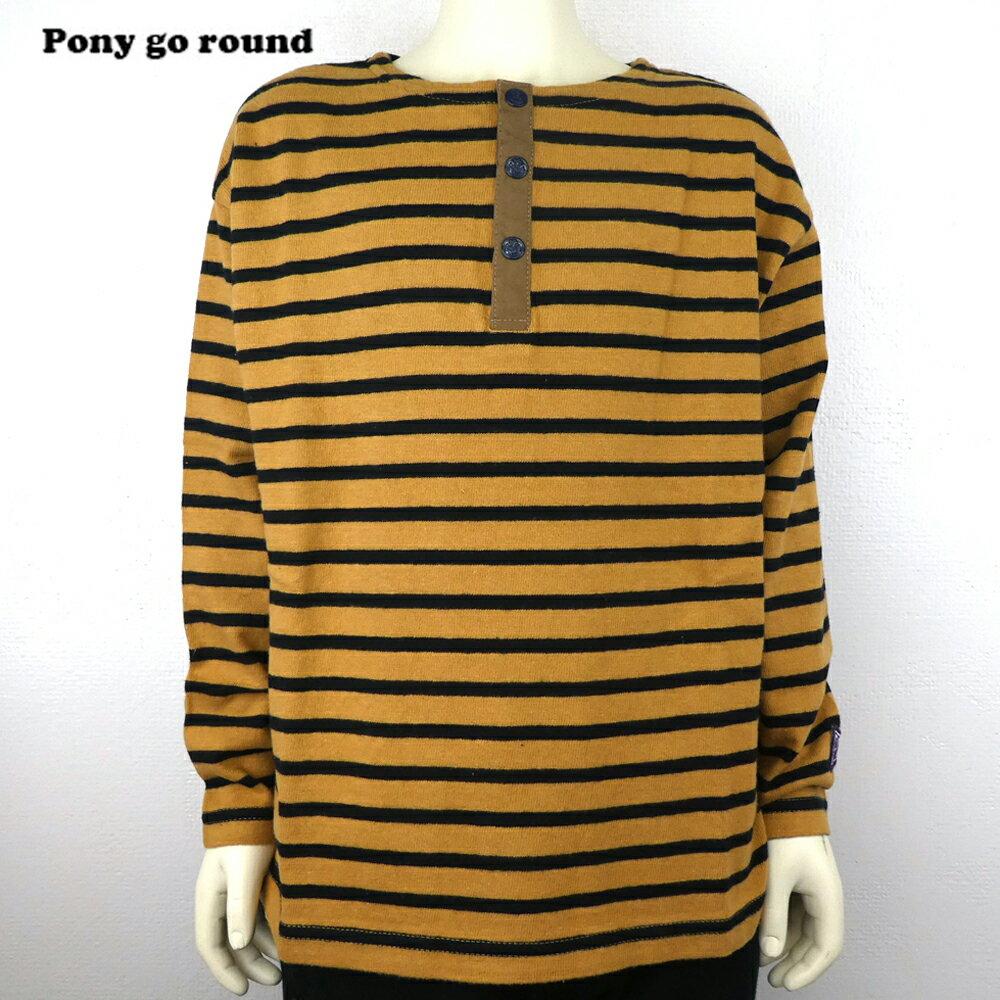 SALE40%OFFPONYGOROUND(ポニーゴーラウンド)ボーダーパッチTEE長袖Tシャツ(8