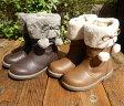 【SALE 40%OFF】BdeR(ビーデアール) リボンブーツ BOOTS (15-21) 靴 ブーツ おしゃれ キッズ 女の子 かわいい 子供 黒 ピンク