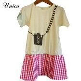 【SALE 50%OFF】UNICA(ユニカ) カメラ女子 ワンピース (90-140) おしゃれ キッズ 女の子 かわいい 子供服