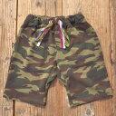 MOMENT(モーメント) CAMO SWEAT SHORTS スウェット ショートパンツ (90-140) おしゃれ 男の子 女の子 かわいい 子供服