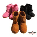 【SALE】MINNETONKA(ミネトンカ) Side Zip Double Fringe Boot KID'S(14-20) セール
