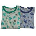 【DM便送料無料】ampersand(アンパサンド) ヨット柄半袖パジャマ (80-140) 子供 半袖 綿100 男の子