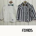 F.O KIDS (エフオーキッズ)蝶ネクタイシャツ(100-140) 長袖 子供服 女の子 男の子