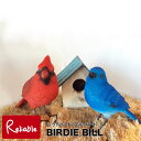 バーディビル BIRDIE BILL 【レッドバード/ブルーバード】小鳥のクリップホルダー小鳥 青い鳥 赤い鳥 クリップホルダー オブジェ リアル メッセージバード バーディービル バードビル