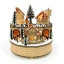 ウッドライトオルゴール スノータウンクリスマス Xmas C...