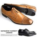 【サイズ交換1回無料】キャサリンハムネット 靴 メンズ ビジネスシューズ 本革 ストレートチップ KATHARINE HAMNETT 3967