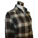 ショッピングネルシャツ Love Me(ラブミー)_チェックシャツ_ターンバック付き_袖のロールアップ【ブラウン】_1229422