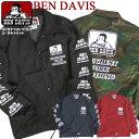 ショッピングウインドブレーカー BEN DAVIS コーチジャケット メンズ ジャケット ベンデイビス ウインドブレーカー バックプリント ゴリラアイコン 袖プリント ベンデービス ナイロンジャケット 2019AW ライトアウター アメカジ ストリート カジュアル BEN-1422