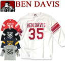 BEN DAVIS 七分袖Tシャツ ベンデイビス Tシャツ ★ ベンデービス クルーネックの七分袖Tシャツ。フロントと背中のナンバープリントのプリントデザインが...