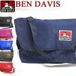 BEN DAVIS ショルダーバッグ ベンデイビス 鞄 ★ ベンデービス メッセンジャーバッグ シンプルでカジュアルな雰囲気 普段使いにピッタリなカバン。かばん底面のゴリラアイコンプリントがお洒落 男女兼用で使える。⇒BEN-704