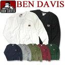 BEN DAVIS 長袖Tシャツ ベンデイビス Tシャツ ベンデービス クルーネックの長袖Tシャツ。