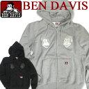 BEN DAVIS パーカー ベンデイビス スウェット ベンデービス ブランドタグ付き フロントの胸元にゴリラアイコンの刺繍…