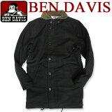 BEN DAVIS ベンデイビス ロング丈 N-1ジャケット★ 内側と襟元のボア素材が暖かくてお洒落なデザインのN-1ジャケットが登場 袖口が2重構造になっていて着心地がよく、秋冬コーデにピッタリなお洒落なアウターアイテム BEN-832