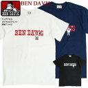 BEN DAVIS Tシャツ ベンデイビス ゴリラ ロゴプリント 半袖Tシャツ メンズ ブランドロゴ クルーネックTシャツ ゴリラ イラスト プリントTシャツ ベンデイヴィス ブランドタグ 丸首 半袖 トップス カジュアル ストリート アメカジ BEN-1584