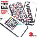 VISION iPhone7ケース VISION STREET WEAR アイフォン7ケース ★ ヴィジョンストリートウェア i-Phone7専用ケース お洒落なデザインのアイフォンケース ブランドロゴ柄 かっこいい アイフォンカバー TPU iphone7カバー VISION-316