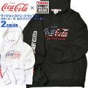 コカ・コーラ パーカー VISION プルオーバーパーカー Coca-Cola ロゴプリント スウェット メンズ ビジョンストリートウェア 袖プリント..