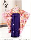 小さめ6歳前後用女の子袴m 春ピンクに彩花の舞 紫桜袴2 h...