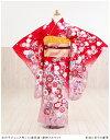 ジュニア着物レンタル 赤地に彩りの慶華 jk018【女の子フ...