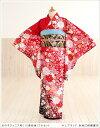 ジュニア着物レンタル HLブランド 赤地に絢爛慶花 jk028【女の子フルセットレンタル