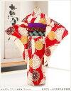 ジュニア着物レンタル 赤地クリームに古典の吉祥慶華 jk08...