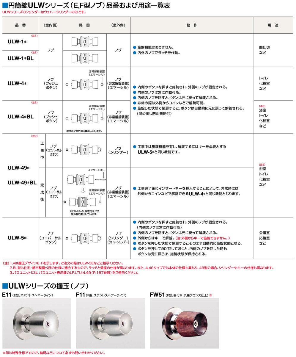 ゴール社ロック錠(ユニロック錠)ULW-1Eカ...の紹介画像3