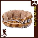 【在庫一掃セール】【送料無料】■ラウンドクッション チェック ブラウン ボンビアルコン ▼a ペット グッズ 犬 ドッグ
