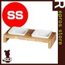■REPLUS MESHIDAI メシダイ ムク ダブル SS チーク リプラス ▽b ペット グッズ 犬 ドッグ 食器