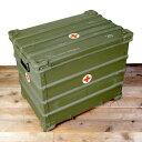 軍放出品ミリタリーボックスアルミコンテナドイツ軍軍払下げ品軍払い下げ品ストレージボックスアルミボックスオリーブドラブ