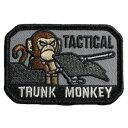 MIL-SPEC MONKEY パッチ Tactical Trunk Monkey ベルクロ付き [ SWAT ] MSM ミルスペックモンキー ミリタリーワッペン ミリタリーパッチ アップリケ タクティカル トランクモンキー