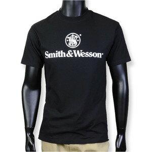 スミス&ウェッソン Tシャツ 半袖 Basic Logo [ ブラック / XLサイズ ] S&W ミリタリーシャツ 半袖シャツ アーミーシャツ アサルトシャツ TDUシャツ