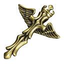 ペンダントトップ 十字架 チャーム 翼 黄銅 ネックレス 真...
