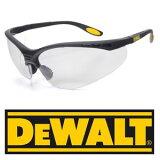 目のまわりをすっぽり包むデザインにより、広い視界を確保、目の保護 ・・・DEWALT セーフティグラス クリア 保護メガネセーフティーグラス デウォルト メンズ アイウェア 紫外線