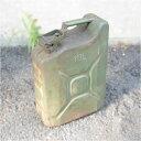 軍放出品 オイルタンク チェコ軍 10リットル 軍払下げ品 軍払い下げ品 オリーブドラブ 油缶