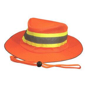 ブーニーハット 反射バンド付 メッシュ [ オレンジ ] ベースボールキャップ 野球帽 メンズ ワークキャップ ミリタリーキャップ