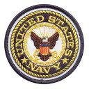 Rothco ミリタリーワッペン 1590 アメリカ海軍 U.S.NAVY 熱圧着式 | ミリタリーミリタリーパッチ アップリケ 記章 徽章 襟章 肩章 胸章 階級章