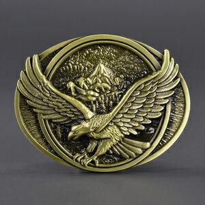 ベルトバックル 威嚇するワシ ゴールド WT095 [ ゴールド ] 交換用 ベルト用バックルのみ アメリカンバックル USAバックル BUCKLE メンズ 取替え用バックル