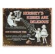 ブリキ看板 ハーシーズキスチョコ Hersheys Kissesブリキカンバン ティンサイン サインボード インテリア TINサイン アメリカン雑貨