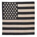 ROTHCO バンダナ アメリカ 星条旗 [ ブラック&カーキ / Sサイズ ] ロスコ Rothco ミリタリーバンダナ ハンカチ スカーフ カーチフ