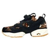 【レディース】Reebok × Disney WMNS INSTAPUMP JB AQ9213 リーボック ディズニー インスタポンプ フューリー コラボ ジャングルブック シアカーン トラ スニーカー ブラック 黒 靴