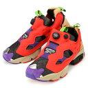 【日本未発売】【メンズ/レディース】REEBOK INSTA PUMP FURY VILLAINS AR1446 リーボック インスタポンプフューリー ヴィランズ スニーカー 靴 ブラック レッド パープル マルチカラー